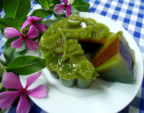 bánh Trung thu rau câu lá dứa