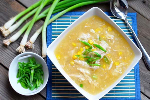 súp ngô thịt gà