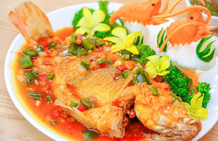 Cách nấu cá điêu hồng sốt cà chua
