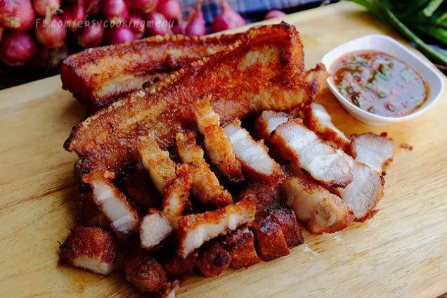 thịt chiên nước mắm kiểu Thái