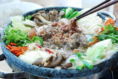 cách làm lẩu bò Hàn Quốc