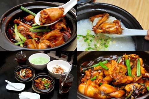 cách nấu cháo ếch Singapore
