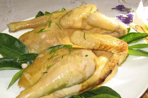 cách làm gà hấp muối ngon