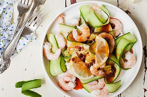 salad tôm chanh