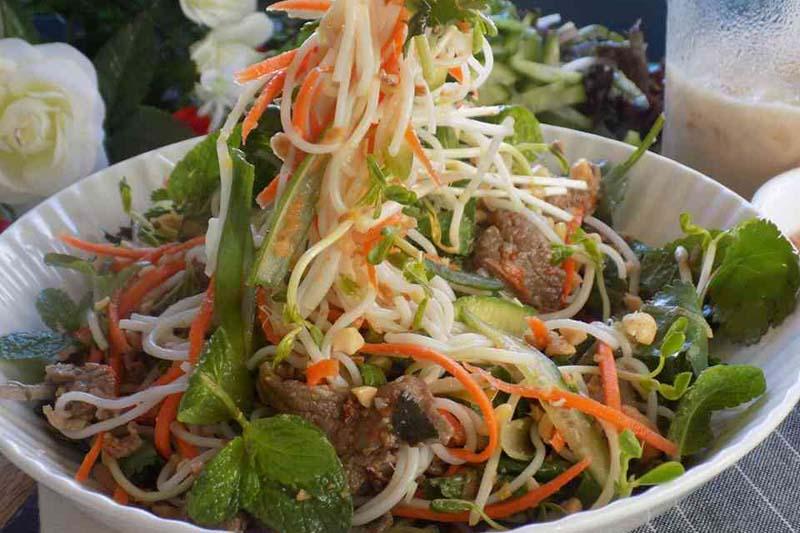 salad thịt bò