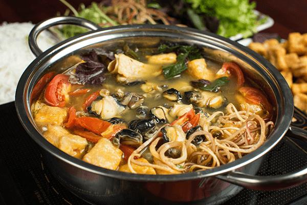 cách nấu lẩu ốc chua cay